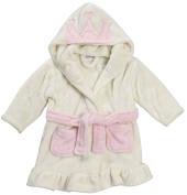 Lora Dora Baby Girls Hooded Fleece Dressing Gown Soft Bath Robe Size 6-24 Months