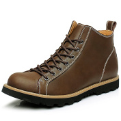 Shenn Men's Ankle Lace Up Work Space Strong Combat Boots 9898