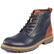 Shenn Men's Ankle Lace Up Comfort Military Combat Boots 190AB