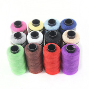UEETEK 12pcs Yarn Sewing Spools Quilting Thread String Coils Kit