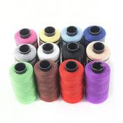 UEETEK 12pcs Yarn Sewing Spools Quilting Thread String Coils Kit