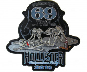 2016 Hollister Independence Rally 69 Years Iron On Patch