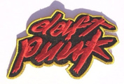 Daft Punk Patch Embroidered Iron / Sew on Badge Applique Costume Cosplay Tribute Souvenir