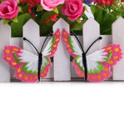 1Pair Hot Pink Butterfly Design Sequins Embroidered Iron On Patches For Kids Clothes Sequins Motif Applique Diy Apparel Perfect Patches