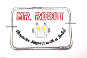 MR ROBOT FSOCIETY PATCH IRON/SEW ON ~- embroidered