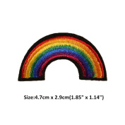 Ximkee(10 Pack)Gay Pride Lesbian Rainbow Embroidered Appliques Sew or Iron on Patches