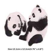Ximkee(5 Pack)Cute Panda Embroidered Appliques Iron on Patches
