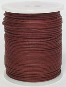 Blue Bird Brand - 1.5mm Garnet Polished Braided Cotton Cord. 100 metres per spool. Includes 1 spool.