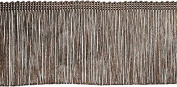 Chainette Fringe Trim 10cm X12yd-Brown
