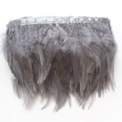 Sowder Rooster Hackle Feather Fringe Trim for Custume Dress Decoration Pack of 5 yards
