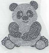 Panda Rhinestone Iron On Heat Press Crystal MOTIF