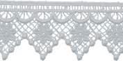 Pointed Daisy Edge Venice Lace Trim 2.5cm - 1.3cm X5yd-White