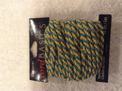 Cousins Cord Basics green & gold sparkle cord 5m