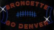 Denver Football Women Rhinestone Iron on Transfer