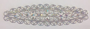 ModaTrims Sew-On or Glue-On AB Crystal Rhinestone on Silver Metal Applique, Bridal and Costume Accessory