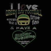 Green Bay Football I Love Rhinestone Iron on Transfer
