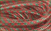 Deco Mesh Flex Tubing with Metallic Foil (Red Emerald Green Christmas) 30 Yards : RE3010J8