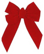 Holiday Trim # 7346 5 Loop 25cm x 33cm Red Velvet Bow - Quantity 18