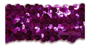 TRIMPLACE FUCHSIA 3.8cm STRETCH SEQUIN (4 ROW) 12 Yards