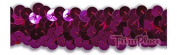 Trimplace Fuchsia 2.2cm 2 Row STRETCH SEQUIN 12 Yards