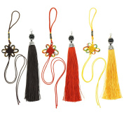 Bilipala Chinese Knot Lobster Clasp Bead Caps Bookmark Tassels, Tassels For Jewellery Making, 3 Sets