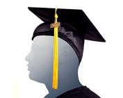 GRADUATION CAP - BLACK (Black)