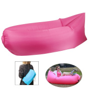 waterproof sofa, inflatable sofa, Summer Outdoor Portable Inflatable Sofa Compression Air Bag Pink