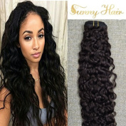 Sunny 60cm 9pcs Darkest Brown #2 Clip in Hair Extensions Natural Wave Full Head Remy Human Hair Extensions 125gram/Set