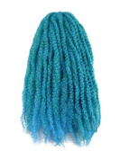 CyberloxShop® Marley Braid Afro Kinky Hair Petrol Blue Ombre Transitional