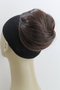 New Straight Wrap around Synthetic Wired Clip-in Scrunchies Instant Hairdo Updo Bun Ponytail Hair Wig Extension