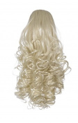 Love Hair Extensions Curly Crocodile Clip Synthetic Hair Ponytail Colour 27 Rich Blonde 12 -Inch by Love Hair Extensions