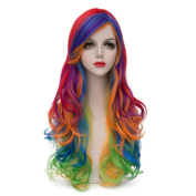 Women's Fashion 70cm Multi Colour Long Curly Lolita Cosplay Wig Heat Resistant