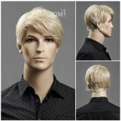 (WG-ZL11-22)Short Straight Men Wig,Golden Blonde colour. by Roxy Display