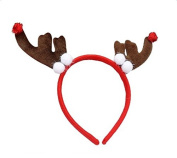 Demarkt Cute Fluffy Christmas ReindeerHeadband Hair band Adults or kids Stocking Filler Gift