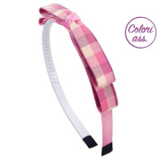 Headband for girl hair cm 1 Double Bow Scottish cm 12 - Cerchietti for Hair Girl Cerchietti Girl