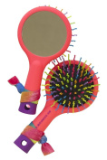 American Jewel My Rainbow Hair Brush Neon COREL for Adults