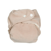 P 'tits So Bamboo Nappy with Insert Pebble Black