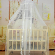 Bluelans® White Mosquito Net Bed Canopy Polyester, Fly Insect Protection Mosquito Mets for Beds, 170cm x 470cm