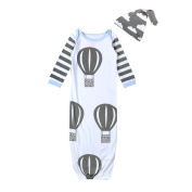 YOUJIA Baby's 2 Peice Sleepsuit - Wearable Sleep Bag & Hat - Newborn Sleeping Sack (For Age 1-3), White