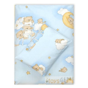 4 Pieces Baby Bedding Set Cotton Bed Linen Baby Pillow D19