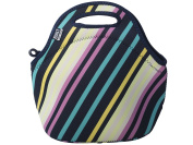 BUILT Montauk Stripes Gourmet Getaway Lunch Tote, Multi-Colour