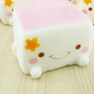 XJPP Soft Squishy Chinese Tofu Adorable Expression Smile Face Fun Toy