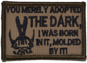 "Bane Speech ""You Merely Adopted the Dark"" Dark Knight 2x3 Military Patch / Morale Patch - Multiple Colours"