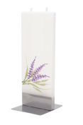 Flatyz lavender Twin Wick Thin Flat Candle Decorative & Functional