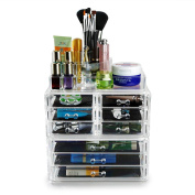 Hotrose Acrylic Clear Make Up Organiser Cosmetic Display Jewellery Storage Case