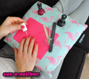 coz-e-nailbar manicure cushion - Flamingo Print