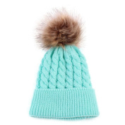 Covermason Cute Baby Kids Newborn Hats Winter Knitted Wool Hat Cap With Pom