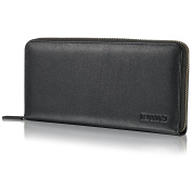 "KAVAJ Leather wallet ""Vienna"" black - genuine leather wallet for women"