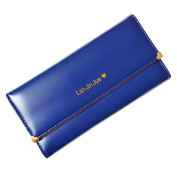 Women's Tri-fold Wallet Rivet Faux Leather Clutch Bag Small Handbag Card Holder Purse