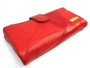 LADIES QUALITY LUXURY SOFT LEATHER PURSE DESIGNED BY LORENZ IN 5 COLOURS 4649